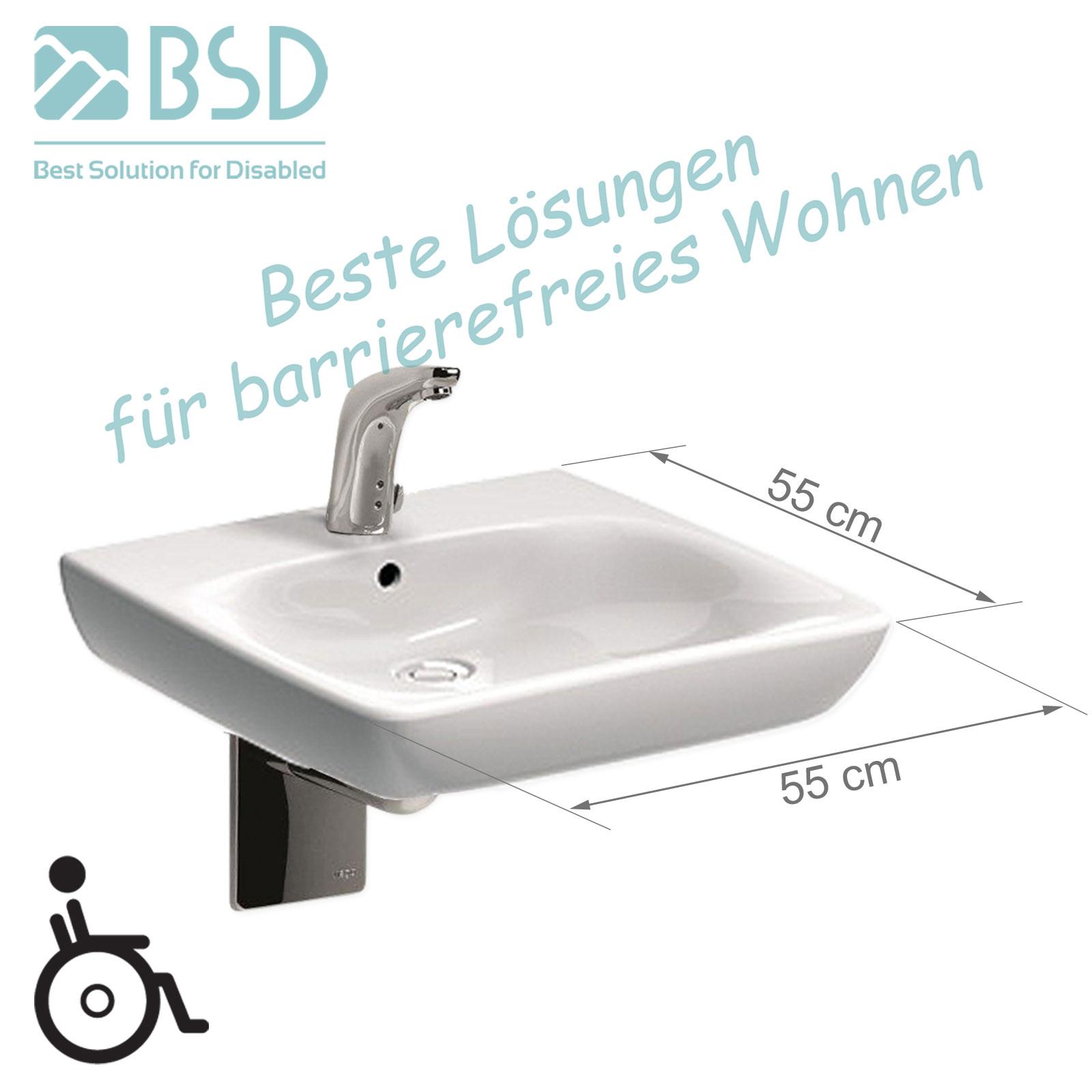 Waschbecken Behindertengerecht : Waschbecken rollstuhlgerecht cm siphon