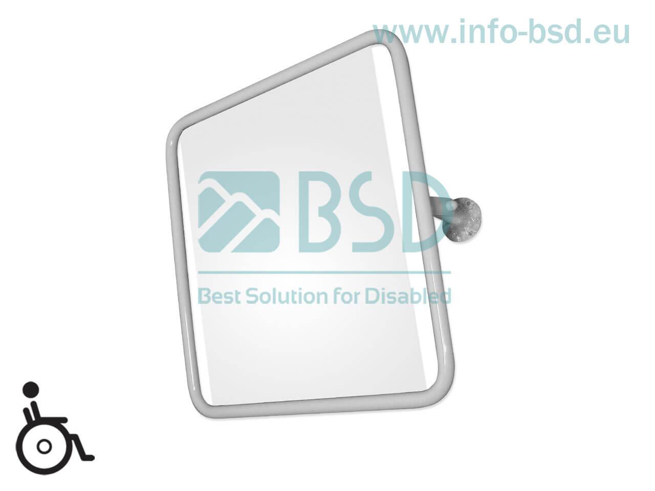 lustro uchylne dla niepełnosprawnych w pełnej ramie 60x60 cm białe BSD LU B25