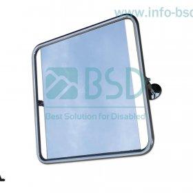 lustro uchylne dla niepełnosprawnych w pełnej ramie 60x60 cm stal nierdzewna BSD LU SN25