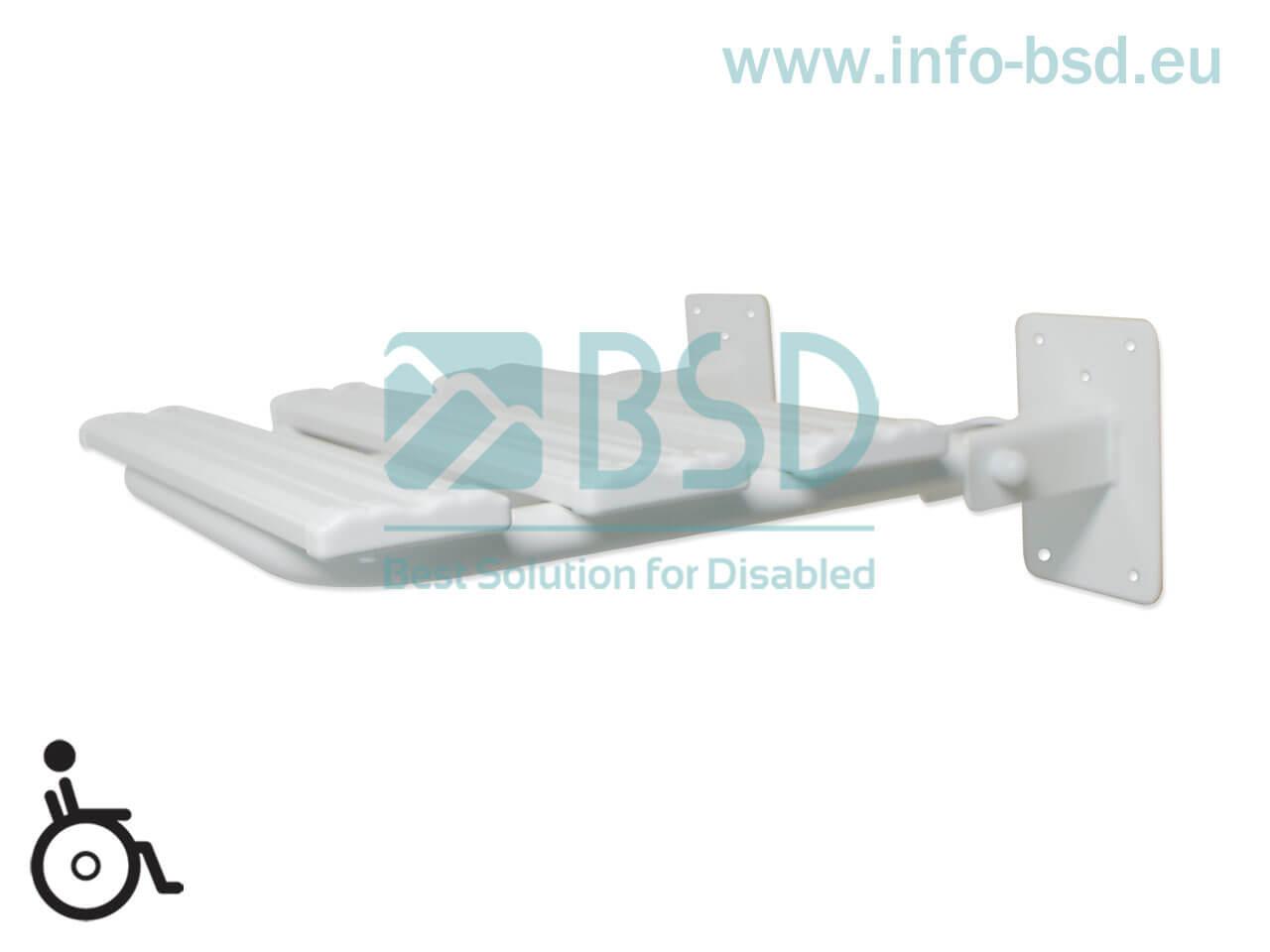 krzesełko prysznicowe dla osób niepełnosprawnych białe KPU-2 BSD