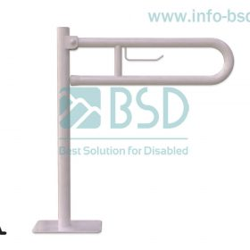 poręcz wolnostojaca uchylna z zawieszką na papier toaletowy dla niepelnosprawnych seria STANDARD UUWCW fi32 BSD