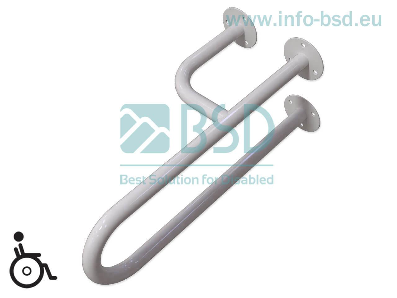 poręcz umywalkowa lewa dla niepelnosprawnych seria STANDARD UUL fi32 BSD